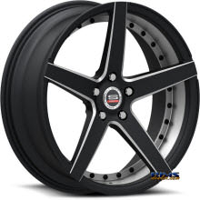Spec 1 Wheels - SPM-76 - black gloss w/ machined