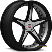 Spec 1 Wheels - SPM-78 - black gloss w/ machined