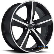 Vision Wheel - Sport Concepts 859 - black flat w/ machined