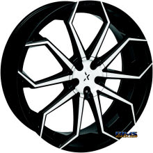 STARR ALLOY WHEEL - 308 Lupa - black gloss w/ machined
