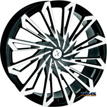 STARR ALLOY WHEEL - 469 SKS  - black gloss w/ machined