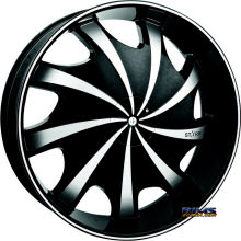 STARR ALLOY WHEEL - 569 Bear - black gloss w/ machined