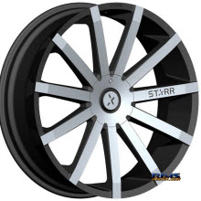 STARR ALLOY WHEEL - 222 MAYHEM - Machined w/ Black