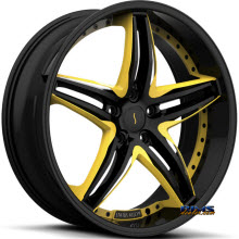 STATUS - S837 Haze (custom yellow / 5-Lug only) - black gloss