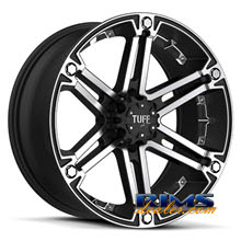 Tuff A.T Wheels - T01 - black flat w/ machined