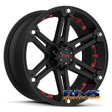 Tuff A.T Wheels - T01 - black w/ red cap