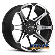 Tuff A.T Wheels - T05 - black flat w/ machined