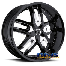 VCT Wheels - LOMBARDI - black w/ chrome cap
