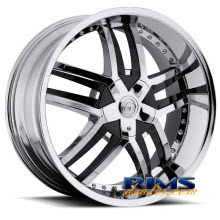 VCT Wheels - LOMBARDI - chrome w/ black cap