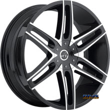 VCT Wheels - V8 - Machined w/ Black