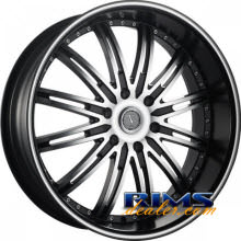 VELOCITY - VW865 - machined black w/stripe