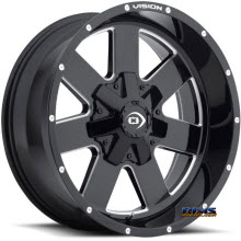 Vision Wheel - 411 Arc (milled) - black gloss