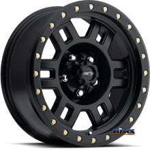 Vision Wheel - 398 Manx - black flat