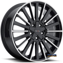 Vision Wheel - 466 Conduit - black gloss w/ machined