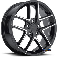 Vision Wheel - 467 Mantis - black gloss w/ machined