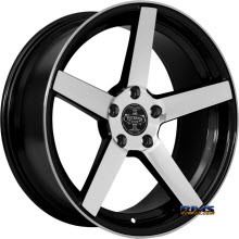 V-Racing Wheels - VE504 - Black gloss w/ Machined