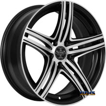 V-Racing Wheels - VE506 - Black gloss w/ Machined