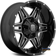 MONSTER ENERGY - 538BM - Milled Accents - black gloss w/ machined