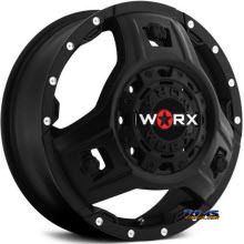 Worx Alloy Off-Road - 801SB TRIAD DUALLY - Black Flat