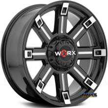 Worx Alloy Off-Road - 806BM TRITON  - Machined w/ Black