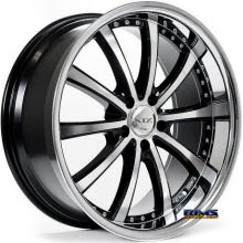 XIX Wheels - X21 - Black Gloss w/ Machined