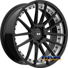 XO LUXURY WHEELS - BARCELONA - black flat w/ machined
