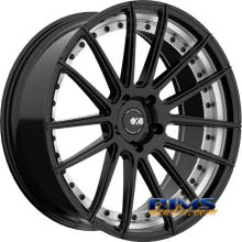 XO LUXURY WHEELS - MONACO - black flat w/ machined