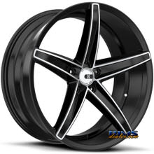 XO LUXURY WHEELS - ST. THOMAS - black flat
