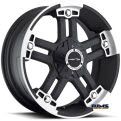 Vision Wheel - Warlord 394 - black flat w/ machined