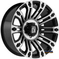 KMC XD Off-Road - XD810 Brigade - Black Gloss w/ Machined