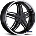 Vision Wheel - Milanni Force 457 - black flat w/ machined