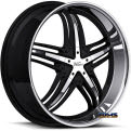 Vision Wheel - Milanni Force 457 - black gloss w/ machined