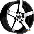 RUFF RACING - R956 - Black Gloss w/ Machined