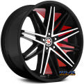 SW1-M - Black Machined W/ Red Inner