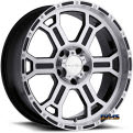 Vision Wheel - Raptor 372 - black flat w/ machined