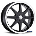Vision Wheel - Kryptonite 378 - black gloss w/ machined