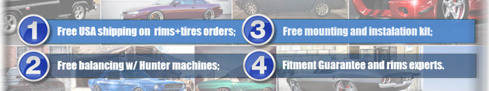 Shop Rims and Tires W/ Advantages!