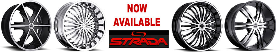 Strada Wheels now available for sale. Strada Rims. Strada Custom Wheels.
