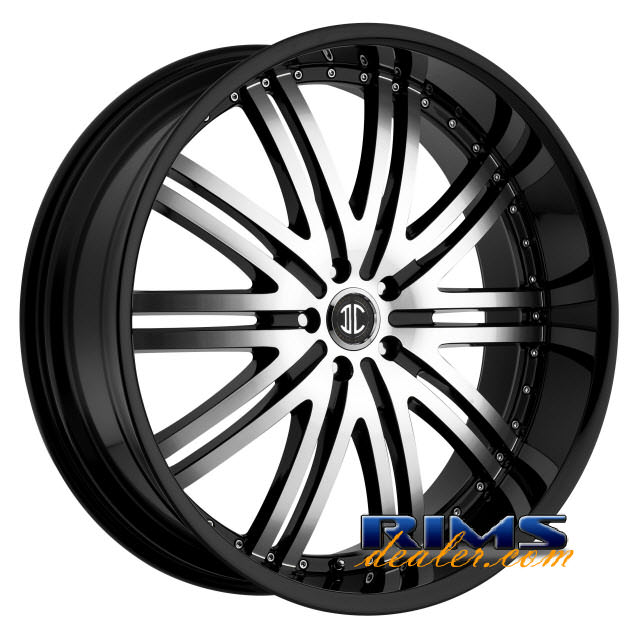Pictures for 2Crave Rims No.11 machined w/ black