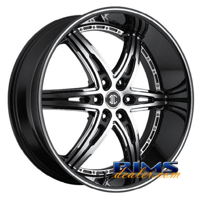 Pictures for 2Crave Rims No.16 machined black w/stripe