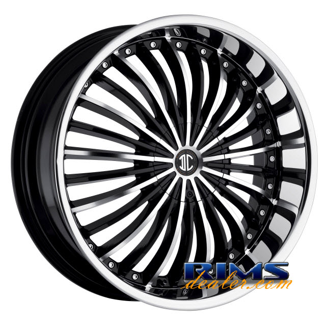 Pictures for 2Crave Rims No.19 machined w/ black chrome