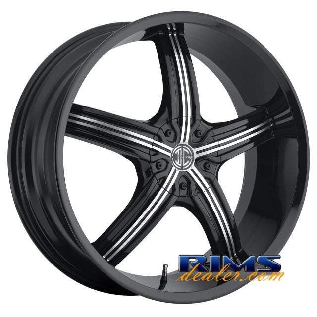Pictures for 2Crave Rims No.23 machined w/ black