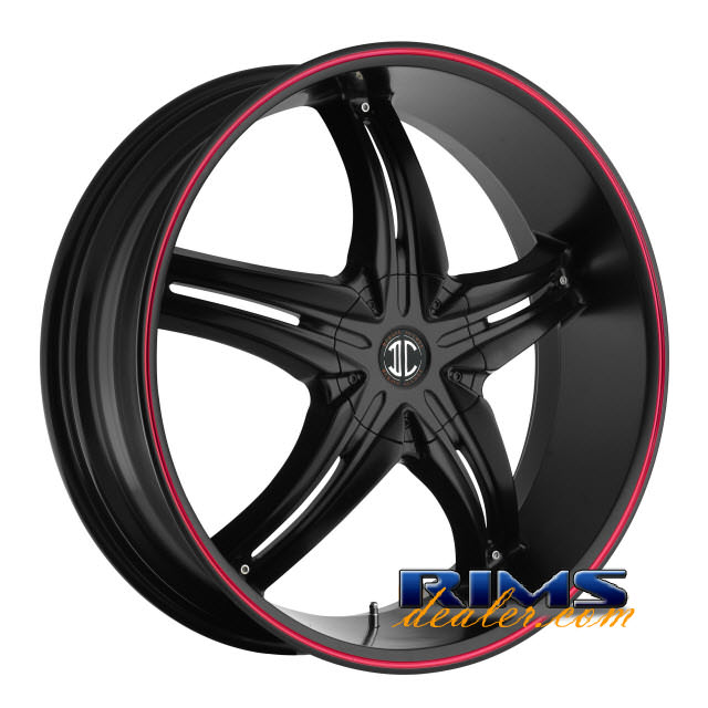 Pictures for 2Crave Rims No.5 black w/ red lip