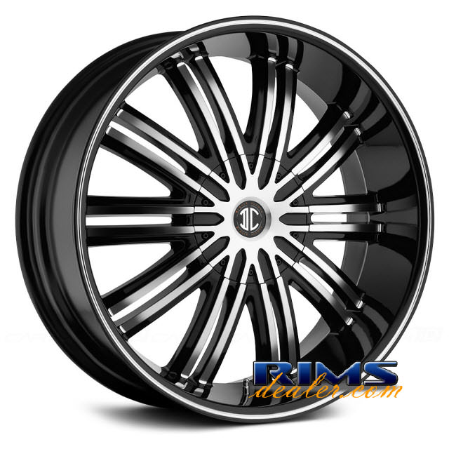Pictures for 2Crave Rims No.7 machined black w/stripe