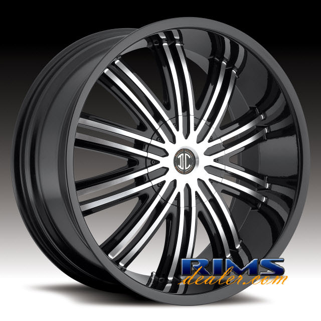 Pictures for 2Crave Rims No.7 machined w/ black