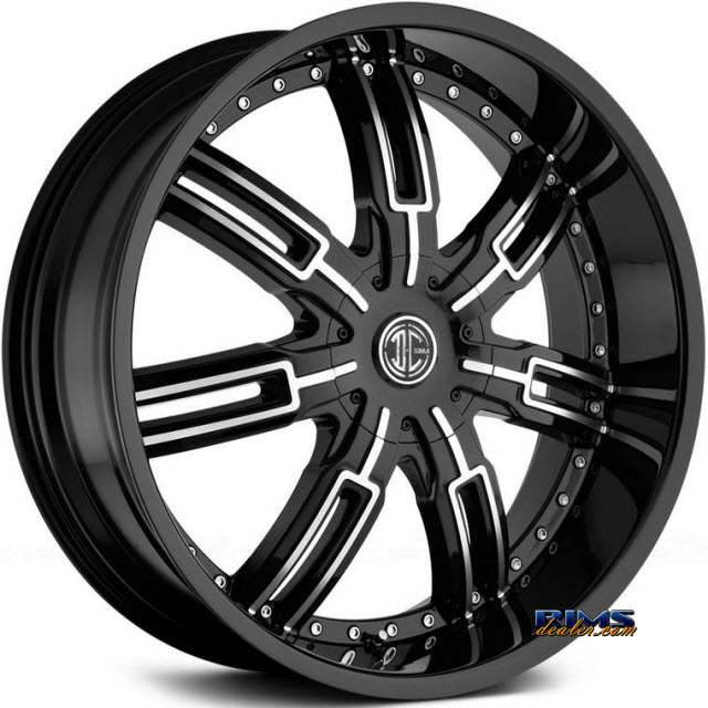 Pictures for 2Crave Rims No.27 Machined w/ Black
