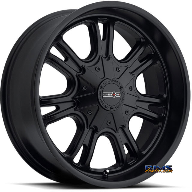 Pictures for Vision Wheel 3992 Storm black flat