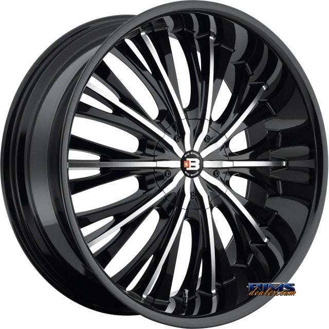 Pictures for BigBang Wheels BB3 black gloss w/ machined