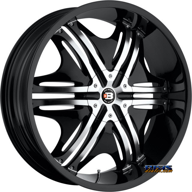 Pictures for BigBang Wheels BB8 black gloss w/ machined