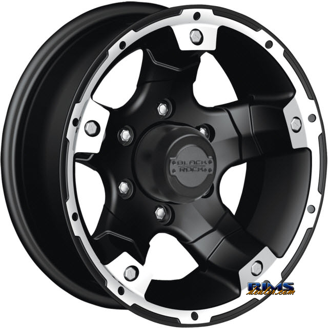 Pictures for Black Rock 900B Viper Off-road Black Flat w/ Machined